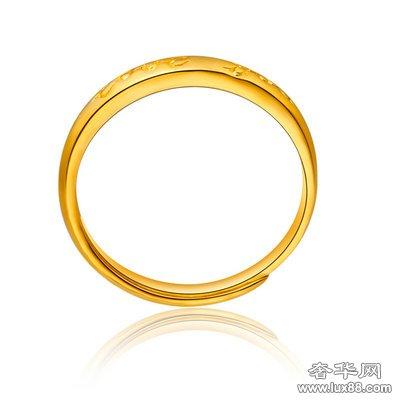周大福黄金首饰图片:足金戒指