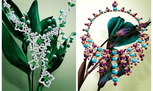 绚烂珠宝遇花朵撞击出最迷人的光芒