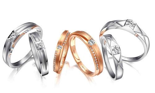 周六福珠宝见证爱情侣对戒钻饰