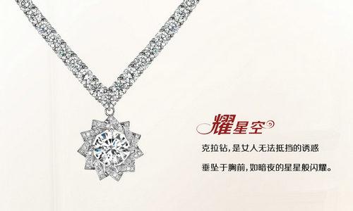 周大金珠宝 耀 星空 钻石项链