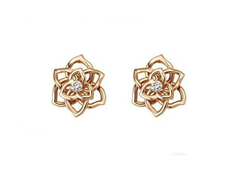 Piaget Rose 18K白金垂饰 镶衬118颗圆形美钻(约重2.86克拉),Ref. G33U0061